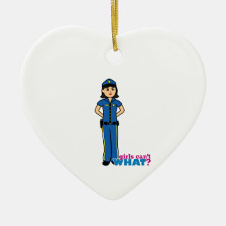 Police Woman - Medium Ceramic Ornament