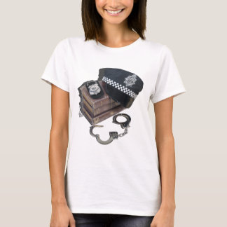 PoliceCrimeBooksHatBadgeHandcuffs042113.png T-Shirt