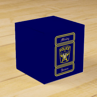 Policeman Blue Wedding Favor Box