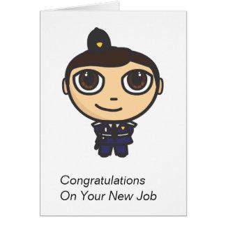Policeman Cartoon Character Congratulations Card