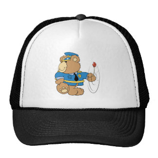 Policeman Cop Bear Trucker Hat