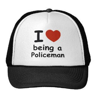 policeman design trucker hat
