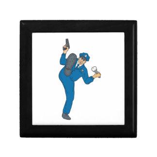 Policeman Gun Flashlight Torch Kicking Drawing Gift Box