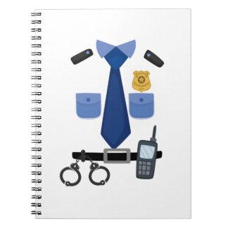 Policeman Halloween Costume Funny Notebooks