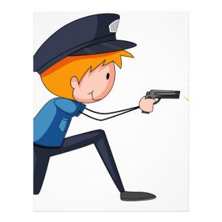 Policeman Personalized Letterhead