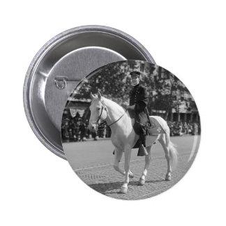 Policeman on White Horse 1921 Button
