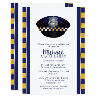 Policeman | Police | Cop Hat Graduation Party Card