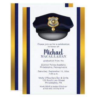 Policeman   Police   Cop Hat Graduation Party Card