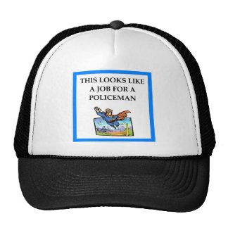 POLICEMAN TRUCKER HAT