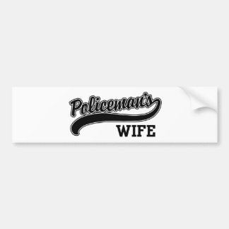 Policeman's Wife Bumper Sticker
