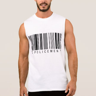 Policemen Barcode Sleeveless Shirt