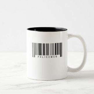 Policemen Barcode Two-Tone Coffee Mug