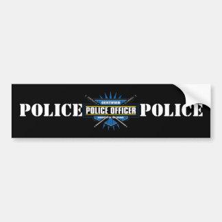 Policier certifié autocollant de voiture