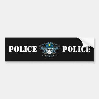 Policier de crâne autocollant de voiture
