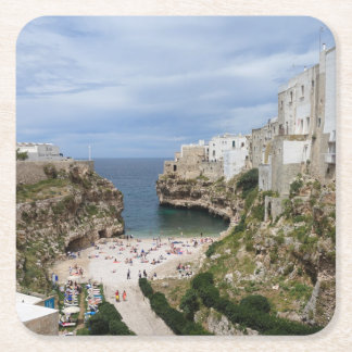 Polignano a Mare city beach in Puglia coaster