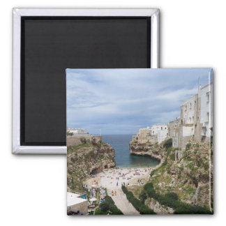 Polignano a Mare city beach in Puglia magnet