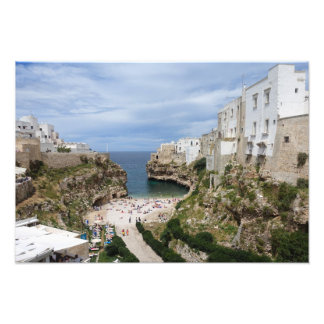 Polignano a Mare city beach in Puglia print Photo Art