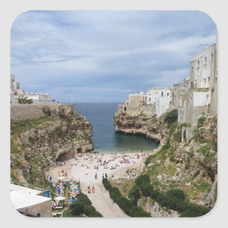 Polignano a Mare city beach in Puglia sticker