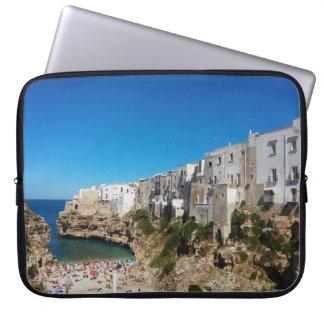 Polignano Mare Bari Italy beach landmark architect Laptop Sleeve