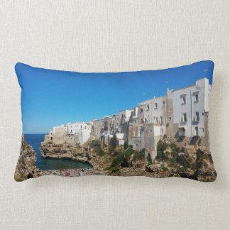 Polignano Mare Bari Italy beach landmark architect Lumbar Pillow