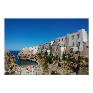 Polignano Mare Bari Italy beach landmark architect Poster