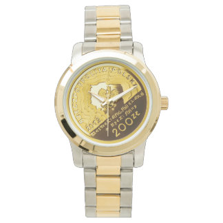 Polish 200 zlotych coin on two tone watch