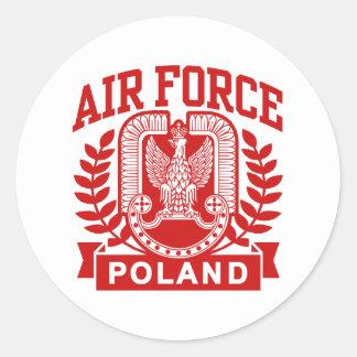 Polish Air Force Classic Round Sticker