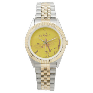 Polish Amber Dragonfly Watch