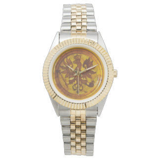 Polish Amber Eagle Mandala Watch