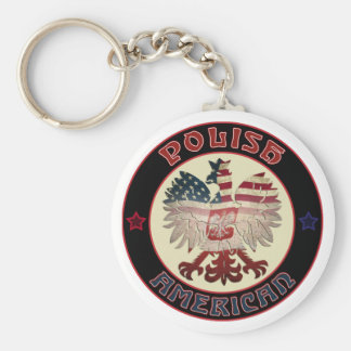 Polish American Eagle Keyrings