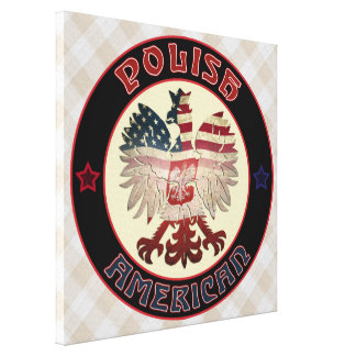 Polish American Eagle Stretched Canvas Print