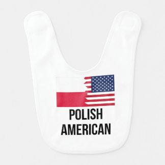 Polish American Flag Bib