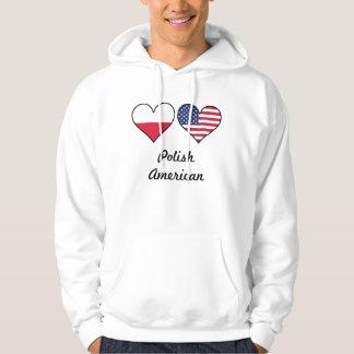 Polish American Flag Hearts Hoodie