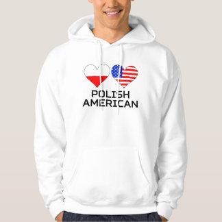 Polish American Hearts Hoodie