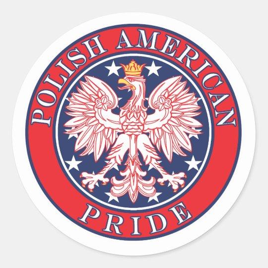 Polish American Pride Classic Round Sticker