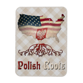 Polish American Roots Flexi Magnets