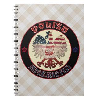 Polish American White Eagle Notepad Notebooks