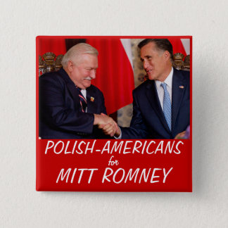 Polish Americans for Mitt Romney 2 Inch Square Button