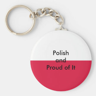 Polish and Proud of It The MUSEUM Zazzle Basic Round Button Keychain