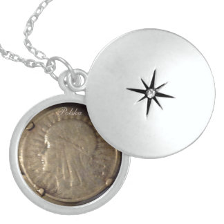 POLISH ANTIQUE COIN STERLING SILVER NECKLACE