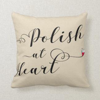 Polish At Heart Throw Cushion, Poland Throw Pillow