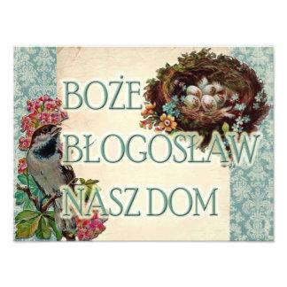 Polish Boże Błogosław Nasz Dom God Bless Our Home Photo Print
