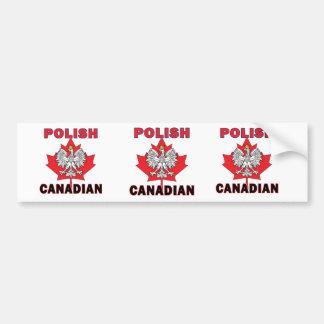 Polish Canadian Eagle Leaf Bumper Sticker