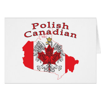 Polish Canadian Flag Map Card
