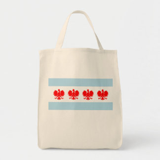 Polish Chicago Flag Tote Bag