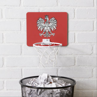 Polish Coat of arms Mini Basketball Hoop