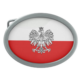 Polish Coat of arms Oval Belt Buckle