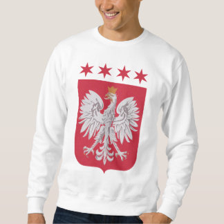Polish Crest Chicago Flag Stars Sweatshirt