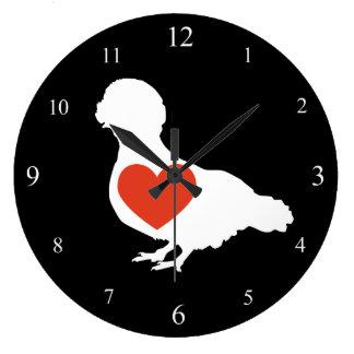 Polish Crested Love Clock