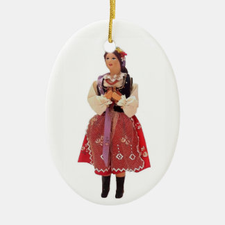 Polish Doll Ceramic Ornament